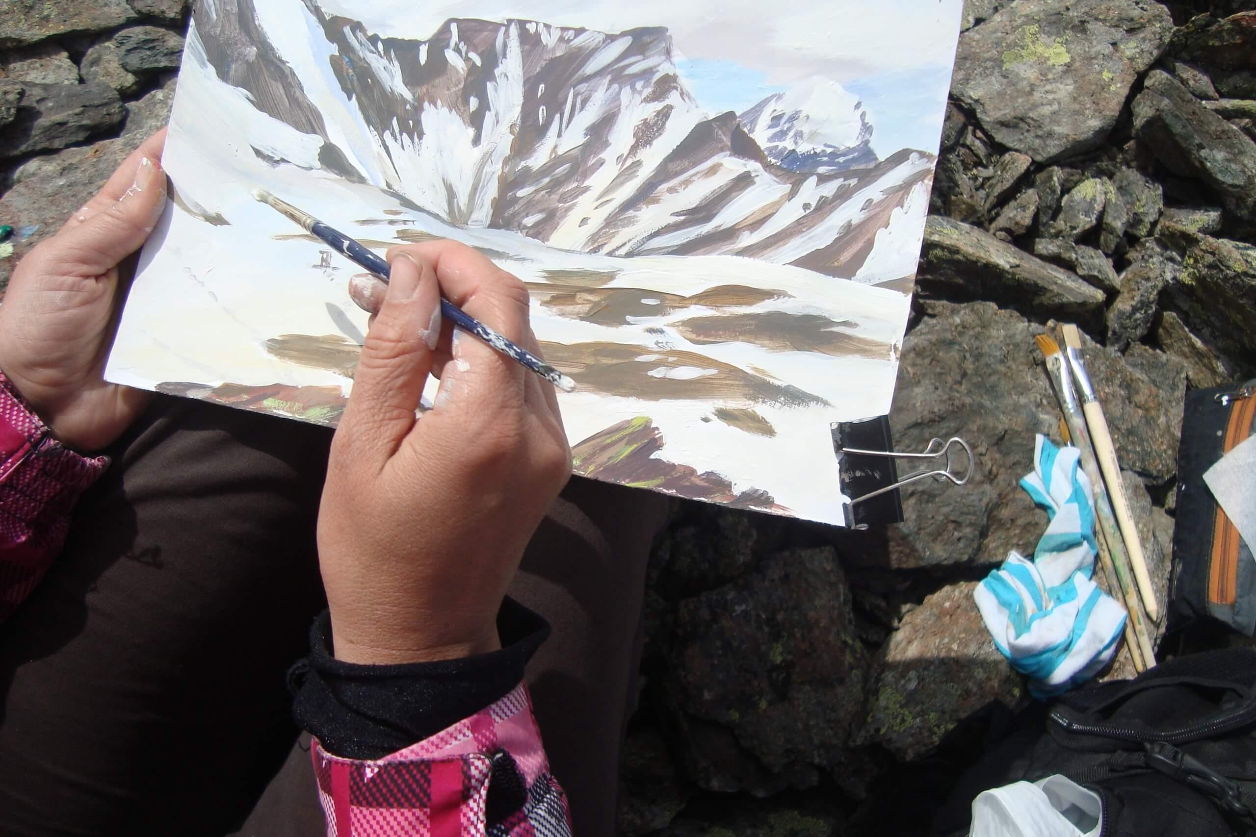 Route «Plein air in the Aktru»